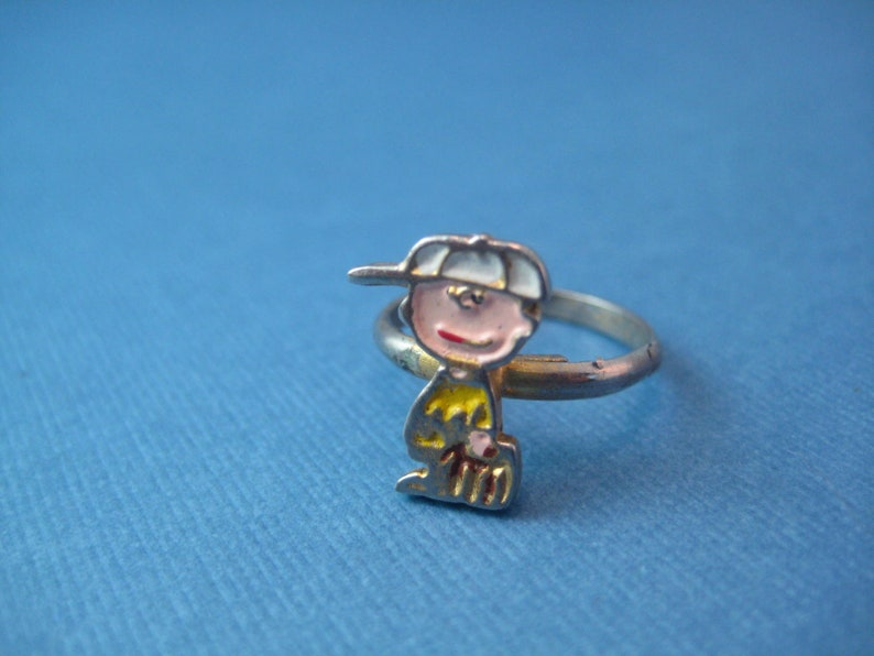 Charlie brown baseball adjustable ring by United Feature