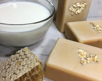 Homestead Milk & Honey Milkmade Soap, Creamy Local Raw Goat Milk, Organic Raw Honey, Sweet Aroma of Milk and caramelized sugars from Honey