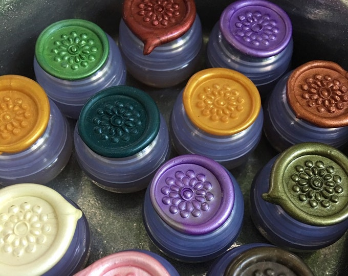 Botanical Solid Nature Perfume, ENTIRE COLLECTION of TEN Nature Fragrances in mini violet jars, 2 grams each, All Natural