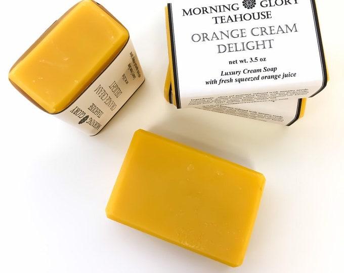 Orange Cream Delight Milkmade Soap, Sweet Orange Essential Oil, Fresh Squeezed Orange Juice, Heavy Cream, Silky Lather, Sensitive Skin