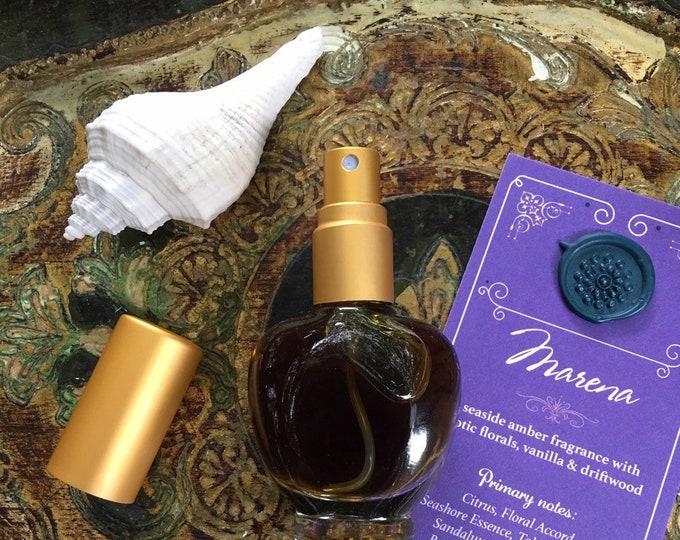 MARENA Botanical Eau de Parfum~ Exotic Florals over Vanilla, Sandalwood, Amber, and Botanical Ambergris, Aquatic ~ All Natural Fragrance