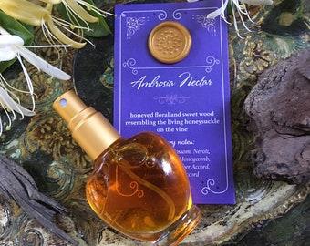 AMBROSIA NECTAR Botanical Eau de Parfum ~ honeyed floral spice & sweet balsamic wood of the living honeysuckle vine, All Natural Fragrance