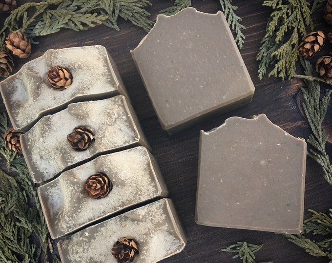 Greenwood Goat Milk Soap - Palm Free - Handmade Soap by Morning Glory Teahouse - Cold Process Soap, 4.5 - 5 oz bar