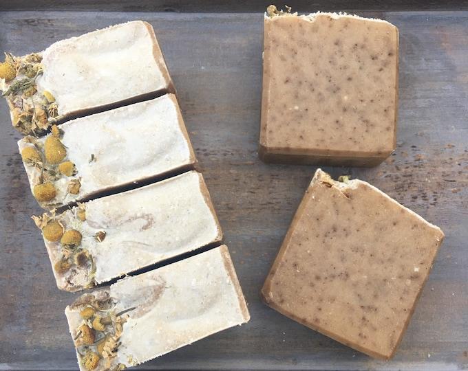 Honey, Oats & Banana Goat Milk Soap, Handmade Soap by Morning Glory Teahouse, Cold Process Soap, 5 oz bar