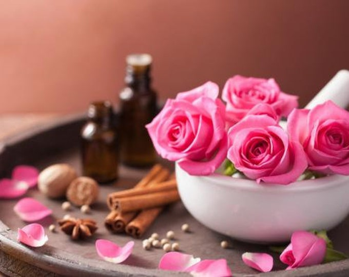 CARDAMOM ROSE Botanical Solid Perfume ~  sensual, warm spicy floral with sweet, resinous, and woody undertones, romantic evening fragrance
