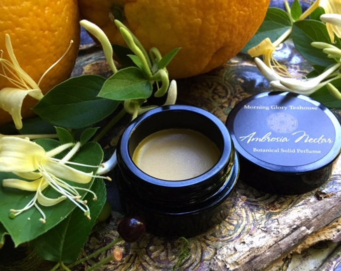 AMBROSIA NECTAR Botanical Solid Perfume ~ green honeyed floral & sweet balsamic wood resembling the intoxicating living honeysuckle vine