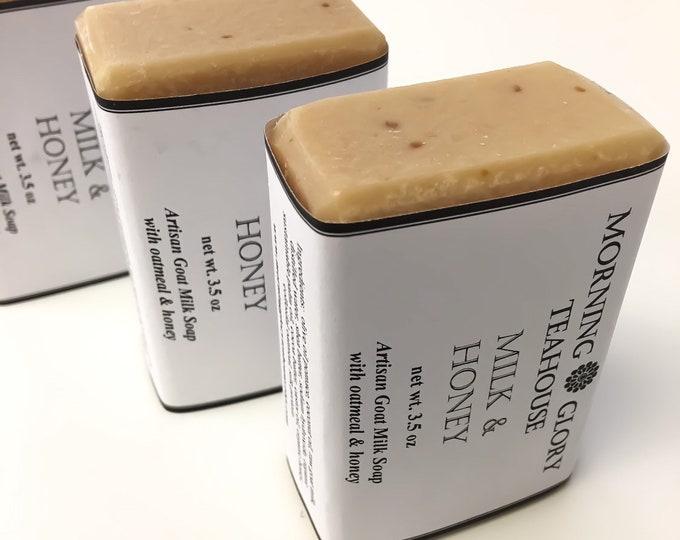 Milk & Honey Goat Milk Soap, Fragrance-free, Sensitive Skin, Baby Soap, Organic Honey, Colloidal Oatmeal, Silky Lather, All Natural Soap