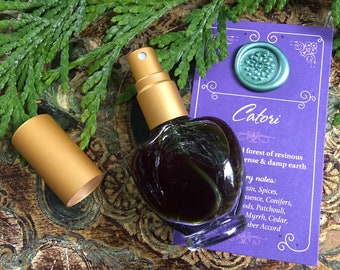 CATORI Botanical Eau de Parfum~ An Enchanted Forest of Resinous Evergreens, Incense & Damp Earth ~ All Natural Fragrance