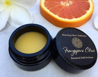 FRANGIPANI CITRUS Botanical Solid Perfume ~ clean, honeyed citrus and lush tropical florals with hints of botanical musk and leather