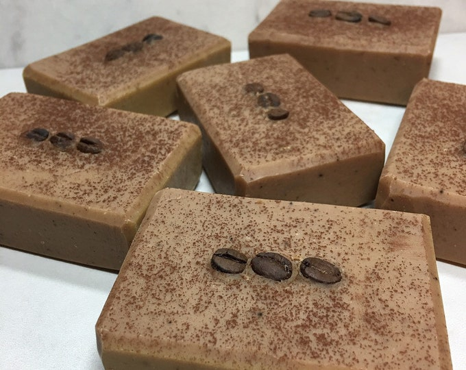 Mocha Coffee Bean Milkmade Soap, Local Raw Goat Milk, Gentle Exfoliating Soap, Fine Ground Coffee, Creamy Cocoa Butter, Organic Cocoa Powder