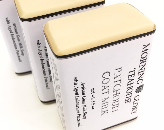 Patchouli Goat Milk Soap, Aged Indonesian Patchouli Essential Oil, Earthy & Grounding, Kaolin Clay, Silky Lather, All Natural Unisex Soap