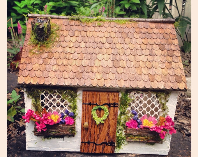 Enchanting Fairy Garden Cottage, Faerie House, Handcrafted, Made To Order