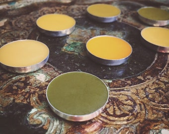 Solid Nature Perfume for Brass Vintage-Style Perfume Locket Necklace ~ Choose your nature fragrance, 2 gram aluminum pan insert, All Natural