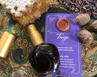 TANZA Botanical Eau de Parfum~ Exotic, Musky, Balsamic, Spicy, Dark Golden Honeycomb with Precious Woods & Amber ~ All Natural Fragrance