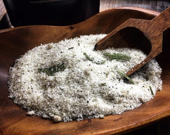 Grounding Bath Salts / Black Spruce, Spearmint & Vetiver / Ground Coffee / All Natural Bath Soak / Botanical Foot Soak / Well Being / 10 oz