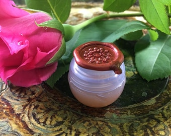 Botanical Solid Nature Perfume, SELECT ONE Nature Fragrance in a mini violet jar, 2 grams, All Natural