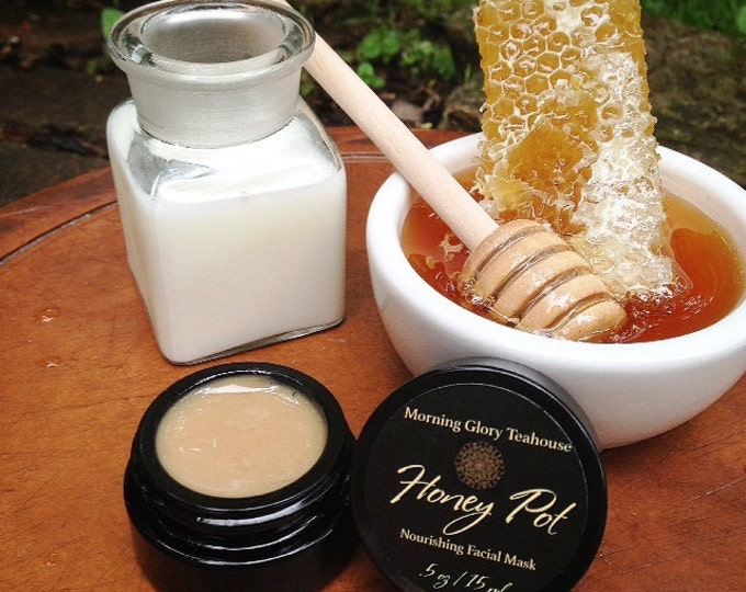 Honey Pot ~ Nourishing Facial Mask for all skin-types, Milk & Honey, Chocolate Pudding Aroma
