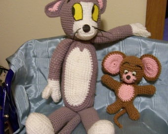 Crochet Pattern For Cat & Mouse