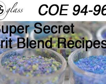 GG Glass coe 96 Frit Blend Recipe eBook