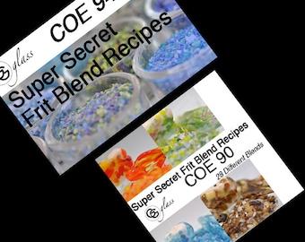 GG Glass coe 96  AND coe 90 Frit Blend Recipe eBooks (Bundle)