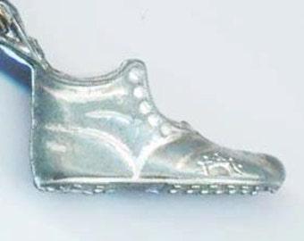 Vintage SilverColor Shoe Pendant . Old Shoe . Antique Shoe. Black Leather Cord. Looks like real Shoe - Vintage Shoe by enchantedbeas on Etsy