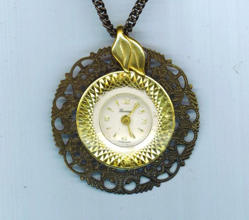 Steampunk Vintage Watch Face Necklace Vintage Edwardian Etsy