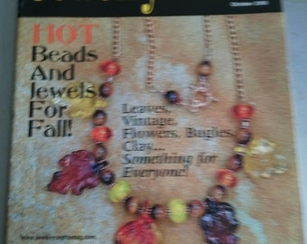 Jewelry Crafts Magazine, October 2006, Hot Beads& Jewels for Fall, Leaves, Vintage, Flowers, Clay, Something for Everyone by enchantedbeas