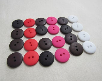 Round Buttons 4 hole buttons Black Buttons 2b2144 18mm Buttons