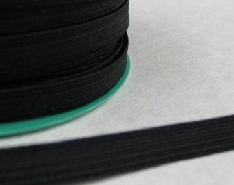 5 metres 10mm black elastic