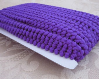 Royal Purple Mini Pompom Trim