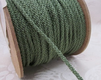 3 Metres 4mm Dark Sage Green Lacing Cord