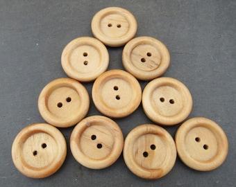 10 Medium Wooden Buttons