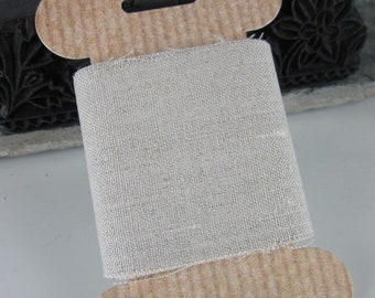 Wide Natural Linen Ribbon Tape