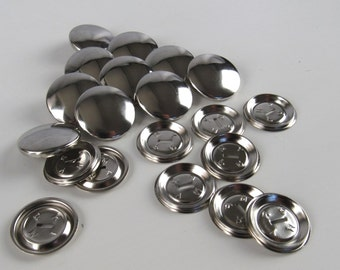 12 Cover Button Blanks Size 32 22mm