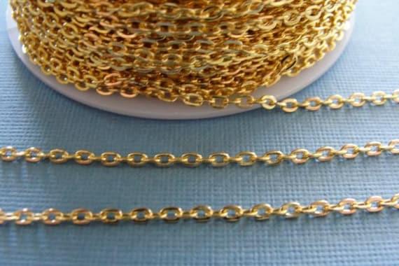 3mmx 2mm Metal Cross Chain Jewellery Chain Silver,Gold,Bronze,Black,Rose Gold