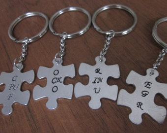 Core Fing Four set of 4 puzzle pieces best friends gifts Mature best bitches friendship gift choice of charms, keychains