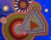 """Limited Edition 19""""x24"""" Giclee Prints on Paper from Crochet Mandalas Study by Artist Xenobia Bailey"""