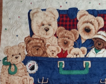Baby Quilt Teddy Bears for baby/toddler