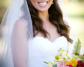 Rose Gold Pendant Necklace, Bridal Necklace, Wedding Necklace, Pear Shaped Pendant, Simple Bridal Necklace, Silver, Gold, Pink Gold Bridal