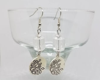 Sparkle and Flower Earrings