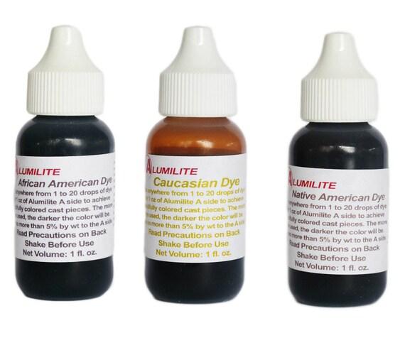 Colorante líquido de color afro americano piel alumilite   Etsy