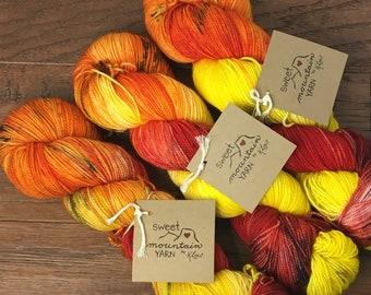 Campfire- Hand-dyed Sock Yarn *READY to SHIP*