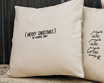 Sweetwater Ink- Merry Christmas Family Name Christmas Swatch (Custom)