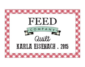 Customized Feed Company Quilt Label