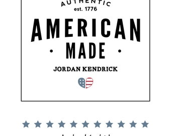 Customized American Made Label