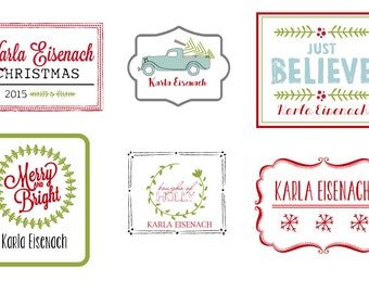 Christmas Personalized Iron On Labels #3