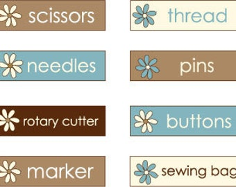 Labels Only - Sewing Organizer