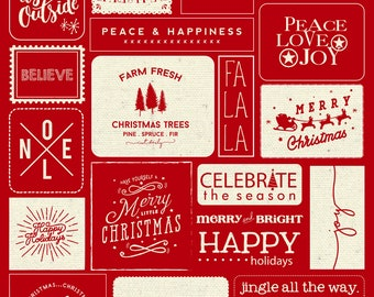 PRE-ORDER Christmas Wishes Panel (Red)