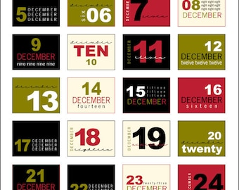 Christmas Advent Labels