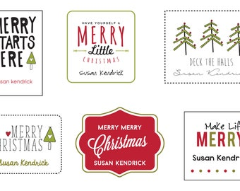 Merry Starts Here Labels (Customizable)